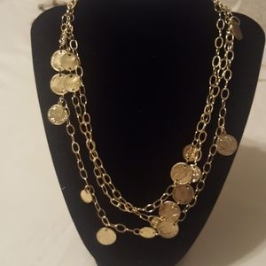 * 5/$25 SALE * Goldtone Coin Necklace